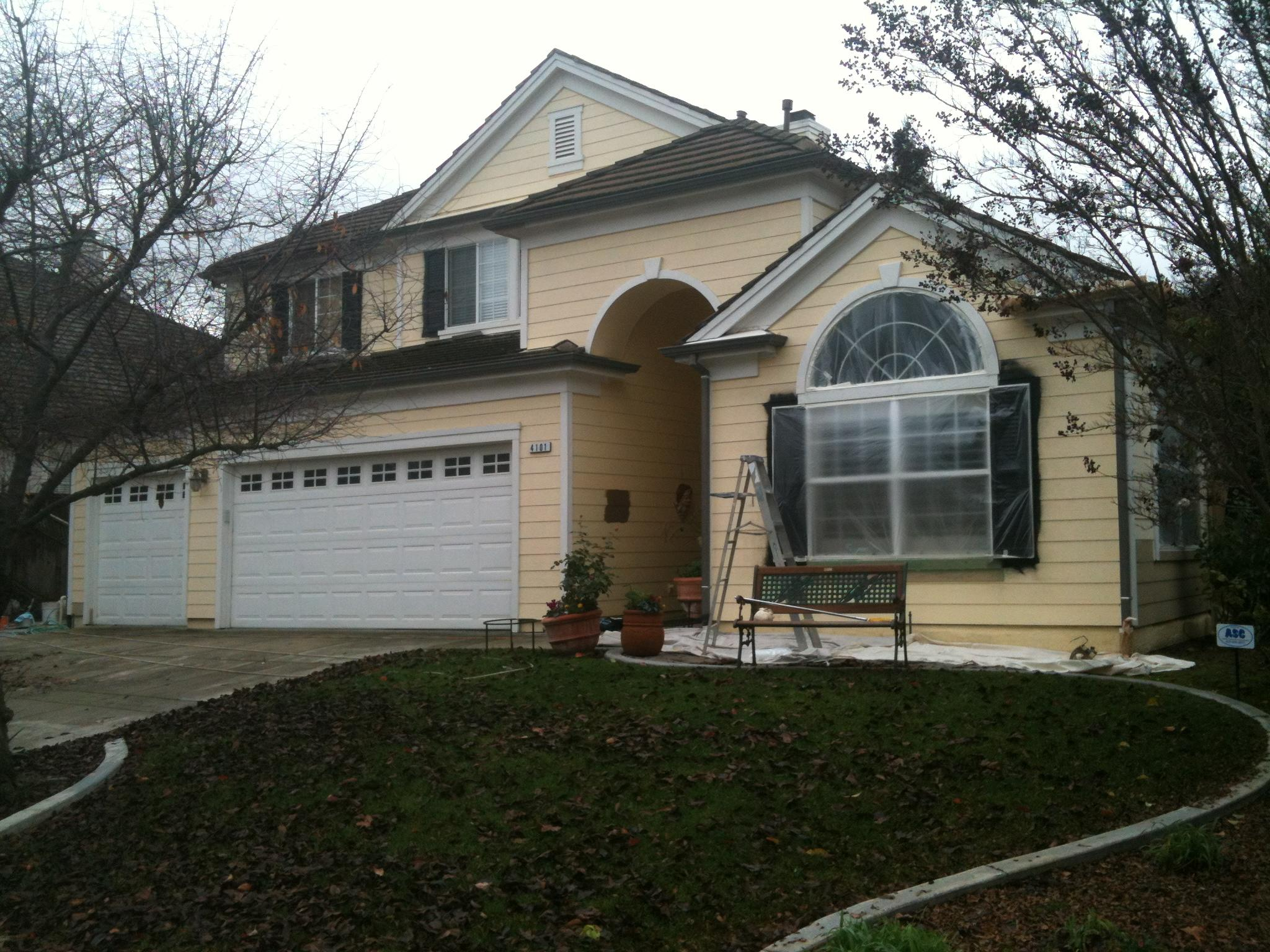 exterior house painters. Before  Exterior house painting Livermore CA Residential Painting Portfolio