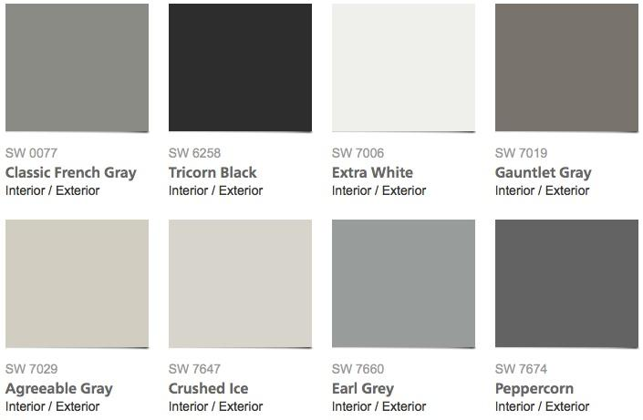 most popular interior house paint colors - Grey Interior Paint Schemes