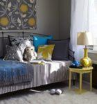 Gray color with Yellow and Blue accents