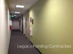 Office hallway interior painting, Menlo Park, CA