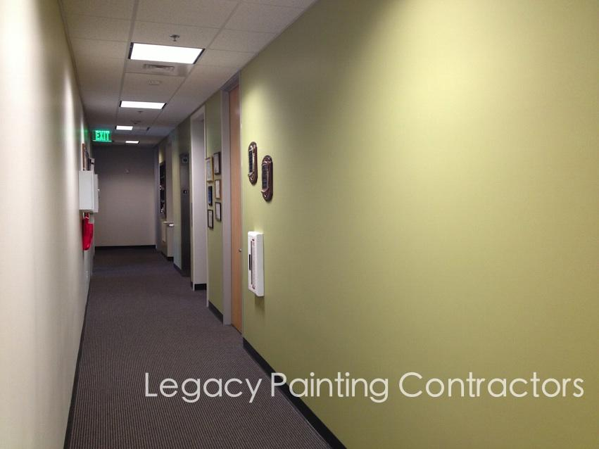 Office hallway interior painting