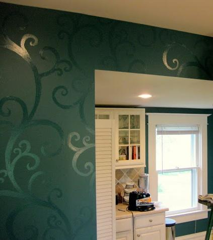 sheen painting shadow stripes part 1 legacy painting contractors ca. Black Bedroom Furniture Sets. Home Design Ideas