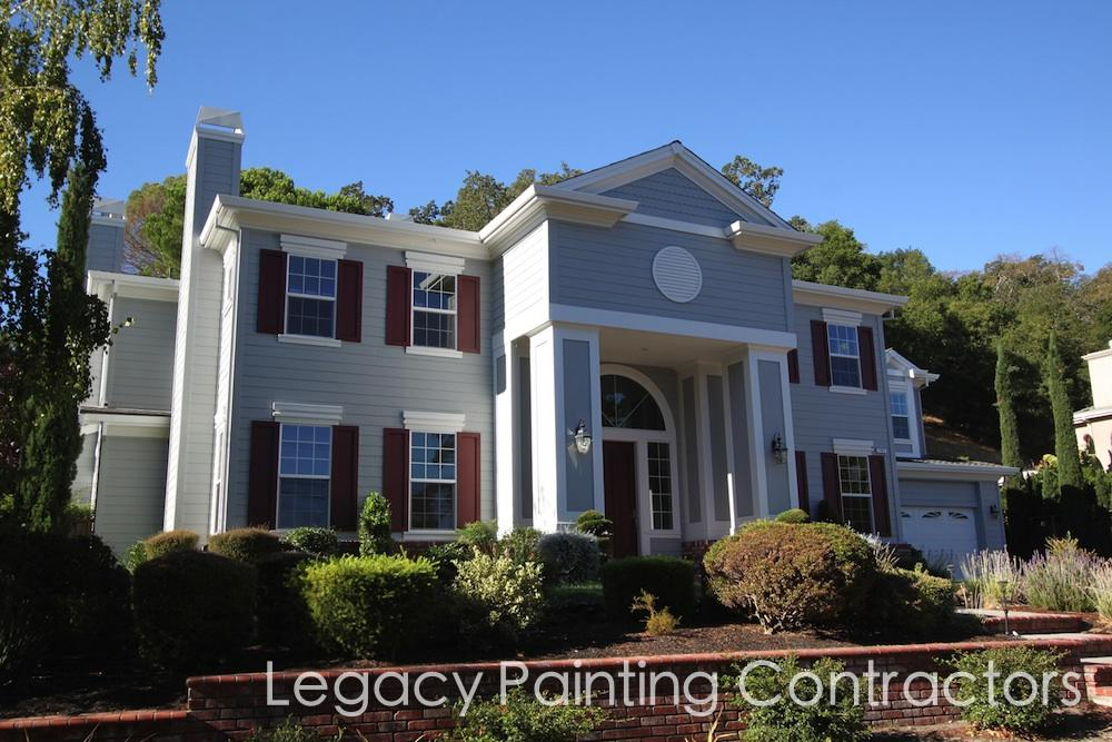 Exterior house painting completed walnut creek ca legacy painting contractors - Exterior house painting costs property ...