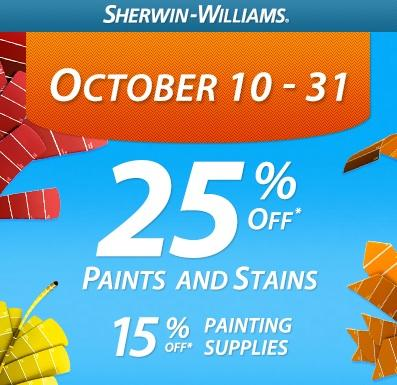 Explore Sherwin-Williams Special Offers and save big on your next project. Close Skip navigation Click the link below and get directions to your closest Sherwin-Williams store. Get Directions. Sales & Coupons. Save big on your next project.