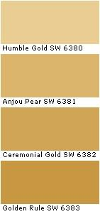 Sherwin Williams - Humble Gold paint color
