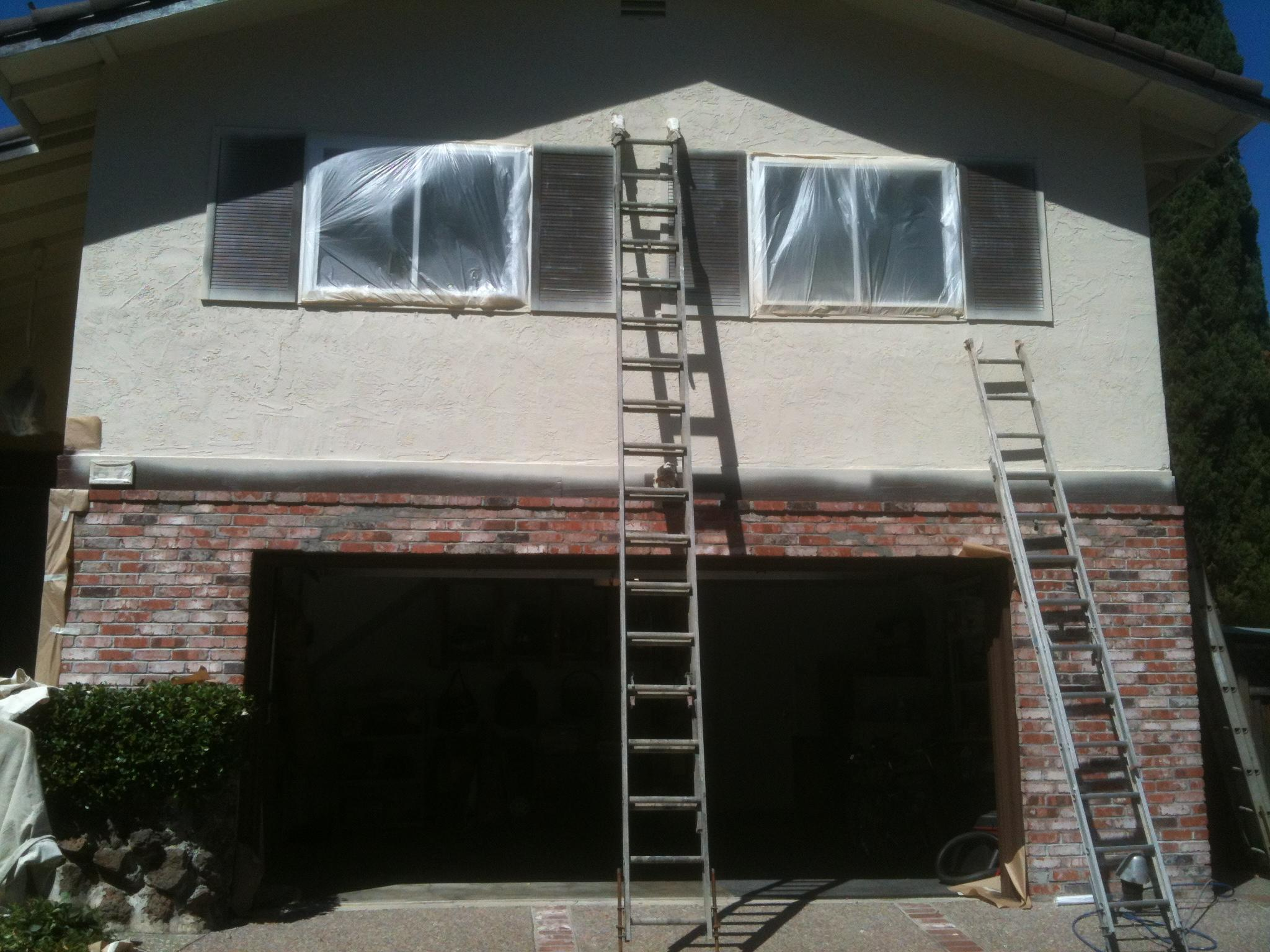 Residential exterior painting portfolio - Painting preparation exterior photos ...
